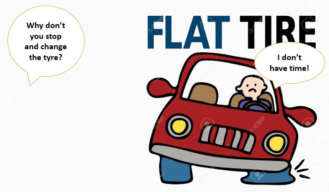 Flat Tyre image